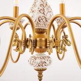 Candle Bronze Chandelier Iluminação para casa