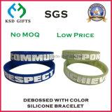 Wristband superiore promozionale del silicone di Debossed di modo