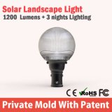 Détecteur de mouvement de qualité Chine DEL Paythway extérieur léger solaire