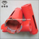 Broca de núcleo de diamante húmedo o seco de segmento para piedra de hormigón