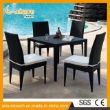 Muebles de comedor de comedor de mimbre de jardín negro Muebles de comedor de mesa de comedor de bikini Bistro