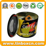 Коробки олова упаковки еды круглые, жестяные коробки подарка металла