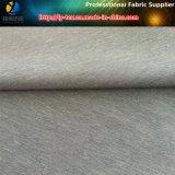 Pongis irregular del poliester, dos hilados combinados, pongis gris
