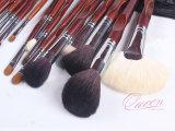 Комплект щетки состава набора 22PCS красной деревянной ручки праймера состава косметический