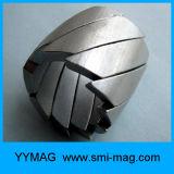 Ímã permanente do motor do Neodymium da forma do segmento do arco com chapeamento niquelar