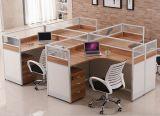 木MDFのオフィスの区分クラスタ事務員のスタッフワークステーション(HX-NCD284)
