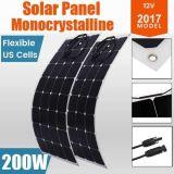 carico di campeggio flessibile di potere della pila solare del comitato solare di 2X 100W 12V mono