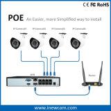 CCTV DVR dell'allarme della rete di 8CH 2MP P2p Poe con la vista in tensione