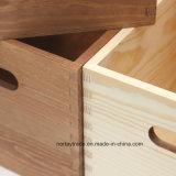 Boîte en bois pour stockage et affichage sur mesure (NT8002)