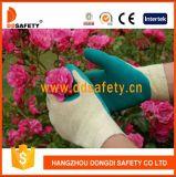 Gants enduits tricotés Dkl324 de sûreté de latex de gants