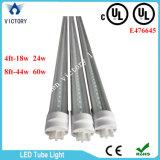 Singolo tubo chiaro dell'UL 4FT 18W 24W LED di riga