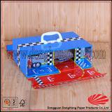 우아한 마분지 여행 가방은 전송 손잡이를 가진 선물 상자를 형성했다