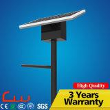 Iluminação solar do diodo emissor de luz da lâmpada de rua do mono e painel poli