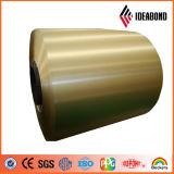 Bobina de aluminio cubierta color de Ideabond PVDF para el revestimiento de aluminio de la pared