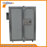 Forno industrial elétrico pequeno da pintura do pó de duas portas