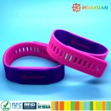 HUAYUAN Adustable Wasserdichtes NTAG213 Silikon RFID Armband