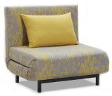 Daybed interno do sofá quente moderno do couro da tela do sofá do couro do estilo