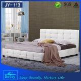 Luxuxentwurfs-Leder-rundes Bett von China