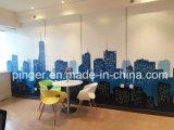 Панель стены винила новой технологии и окружающей среды материальная для офиса