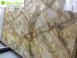 Alibaba熱い販売のブラウンの大理石、雨林のブラウンの大理石の平板