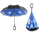 Auto Reverse Folding Straight Anti UV Cadeau Golf Promotionnel Outdoor Rain Sun Beach Umbrella