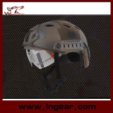 Taktischer Nvg Montierungs-seitliche Schienen-BJ-Militärsturzhelm mit freier Maske