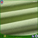 Tissu de flocage enduit ignifuge de rideau en ombrage de polyester de jacquard