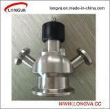 Válvula sanitária da amostra da extremidade da braçadeira do aço inoxidável
