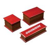 Rectángulo de regalo de madera del embalaje de la joyería de diversa alta calidad sostenida