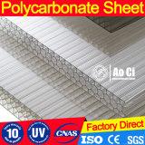 Hoja transparente de la azotea de la luz del sol del policarbonato