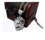 Hombres y mujeres pendientes del collar del acero inoxidable de la joyería del león de la vendimia