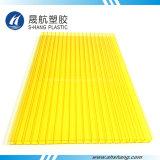 Hoja decorativa protegida ULTRAVIOLETA amarilla del policarbonato de Lexan