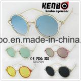 Colourfull sobre o projeto da lente com da lente os óculos de sol quentes redondos Km17094 o mais tarde