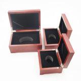 A qualidade superior envernizou a caixa de madeira gravada laser para a jóia (J99-M)