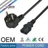 Cable de transmisión eléctrico del ordenador del cable eléctrico de la UE del enchufe de Sipu