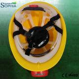 Nuova lampada di protezione del casco di sicurezza 2500mAh con la clip della plastica e dell'ABS
