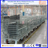 Gaiola dobrável de aço do engranzamento de fio do armazenamento (EBILMETAL-FWC)