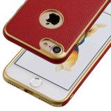 O cabo flexível de superfície de couro TPU do plutônio do prêmio fino ultra magro galvaniza a tampa protetora abundante do caso do quadro para o iPhone 7 de Apple