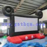 Écran de projection arrière gonflable pour le cinéma extérieur/type gonflable populaire écran de film