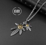 Ювелирные изделия способа звезды ретро ожерелья листьев Unisex привесные