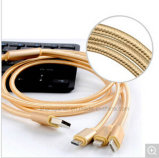 3 en 1 cable trenzado del USB del nilón para el iPhone Anroid