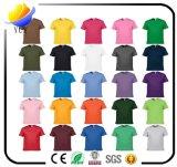 Kundenspezifische erwachsene Baumwollkurzschluss-Hülsen-Bildschirm-Drucken-T-Shirts