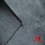 Темная серая ткань 100% замши полиэфира способа для одежды/платья