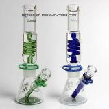 La nueva cachimba Shisha 12 avanza a poquitos el Borosilicate de cristal del tubo de agua de 7m m que fuma Illadelph con la viruta de Milli en el aislante de tubo azul