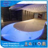 Listones estéticos de la cubierta de la piscina, listones transparentes del policarbonato