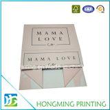 Rectángulos de regalo plegables impresos insignia de encargo de la cartulina