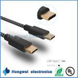 USB3.1 type C à tissus en nylon câble usb de synchro de chargeur tressé de C et de caractéristiques