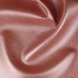 Couro sintético do sofá do PVC do teste padrão do Litchi para a mobília (806#)