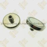 D25mm schroefte het Aangepaste Wijfje Magnetische Schijf, Sterke Magneet
