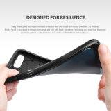 iPhone 7을%s 특색지어진 손가락으로 튀김 가죽 TPU에 의하여 진행되는 충격 보호 튼튼한 전화 상자